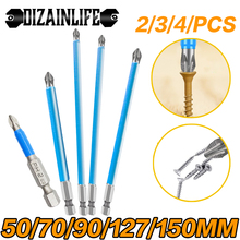 "1/4"" Magnetic Hex Shank Non-Slip PH2 Long Reach Electric Screwdriver Bits Exactness PH2 Single Phillips/Cross Head Power Tools"