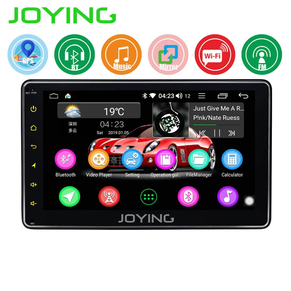 JOYING Single Din 7'' Android 8.1 Car Radio Stereo Quad Core Head Unit Multimedia NO DVD Player With Mirror Link