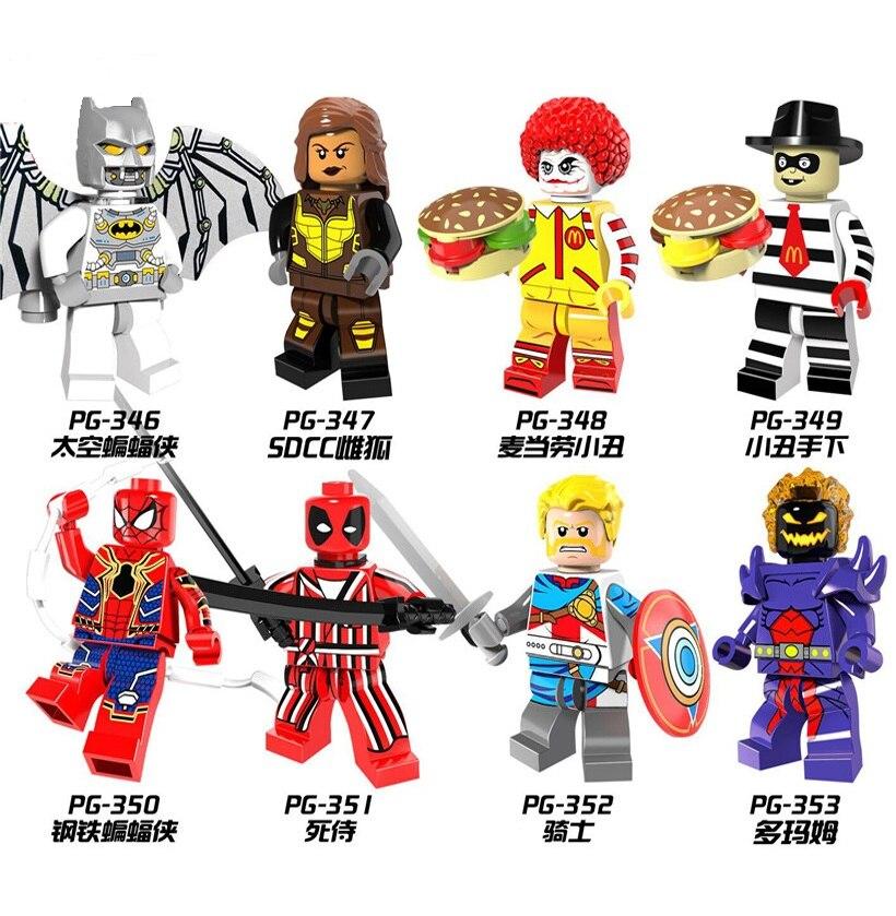 Single Sale Star Wars Batman Vixen Joker Iron Spider-Man Minifigured Anime Figure Building Blocks For Toys Girl Kids Gift PG8084