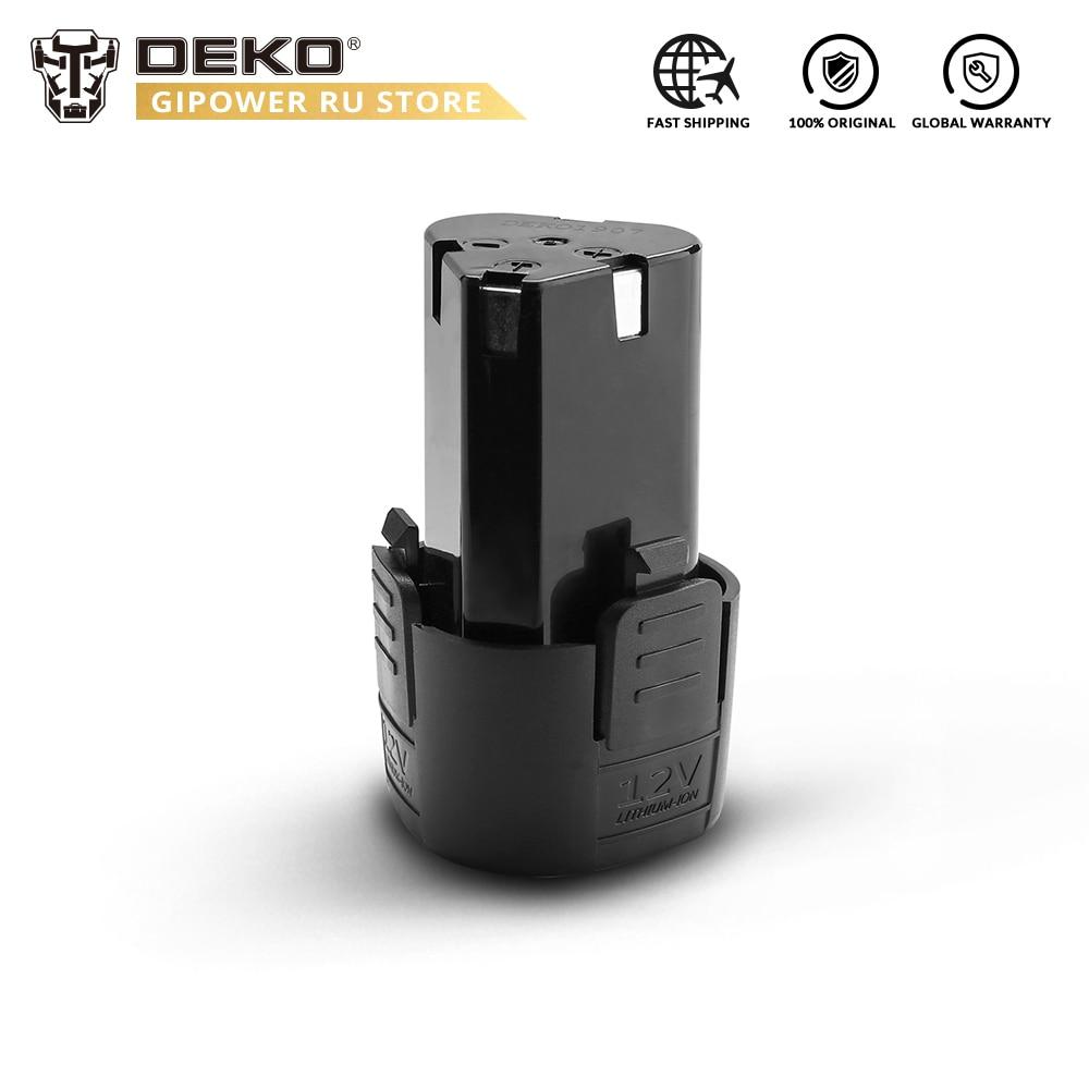 DEKO Battery12V 12V Lithium Ion Battery Pack For Banger 12V Cordless Drill
