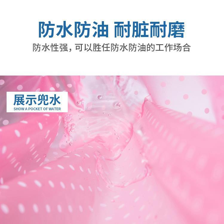 Ev ve Bahçe'ten Kol Kılıfları'de PVC su geçirmez yağa dayanıklı önlük erkekler ve kadınlar su ürünleri iş elbiseleri mutfak kantin kalın şeffaf plastik deri title=