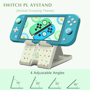 Animal Crossing Stand For Nintendo Switch Lite Games Console Holder Bracket Forest Leaf Adjustble Portable NS Switch Accessories