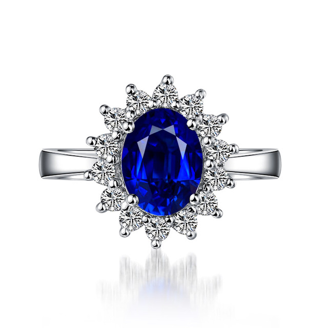Ataullah Princess Diana William Kate Blue Sapphire Rings Silver 925 Ring Gemstone Engagement Fine Jewelry For Woman RW089 5