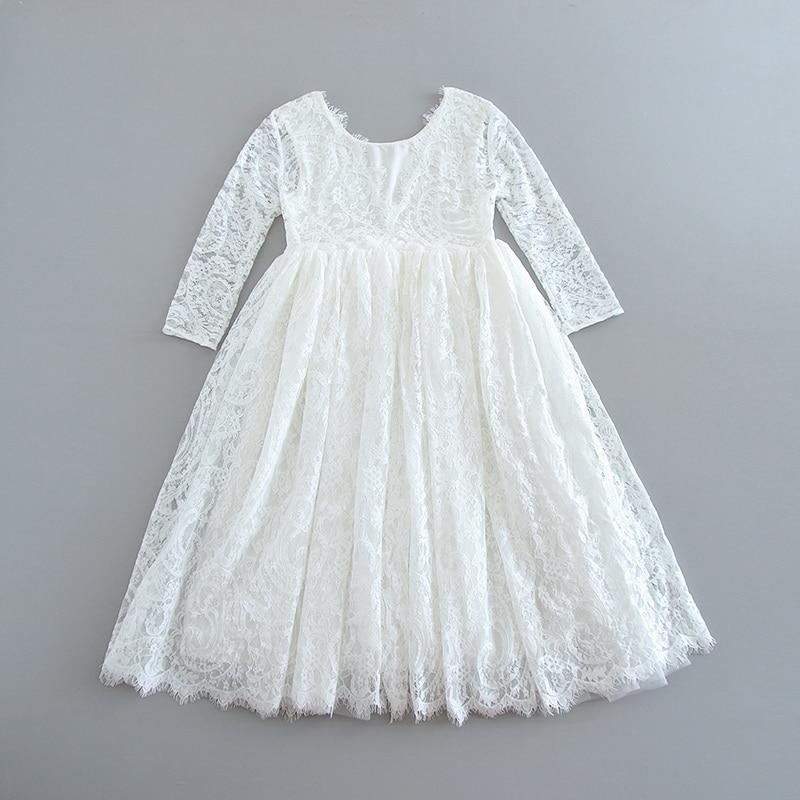 70-4-White Lace Girls Dress