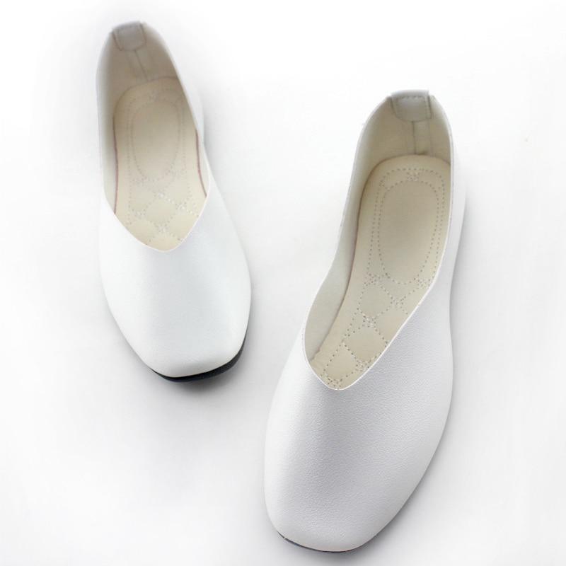 2019 Women Flats Leather Shoes Women Loafer Flat Shoes Platform Chaussures Femme