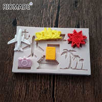 Holiday Theme Airplane Shape Silicone Mold For Fondant Cake Decoration Aircraf Polymer Clay Chocolate Molds Cupcake Baking Tools
