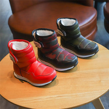 2019 Girls Boy Boots Waterproof Toddler Kids Boots Warm Plush Mid-Calf Boys Snow Boots Children Winter Shoes Toddler Unisex winter plush mid calf boots shoes boys warm children shoes little girls snow boots kids fashion shoes hot sale aa11143