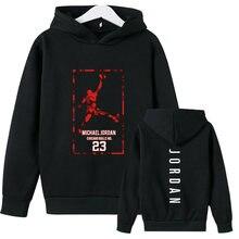 Menino moletom com capuz 23 impresso moletom com capuz criança 2021 primavera outono nova moda pulôver com capuz harajuku criança hoodies hip hop rua