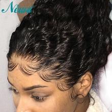 Newa cabelo completo do laço perucas de cabelo humano com o cabelo do bebê encaracolado pré arrancadas perucas completas do laço para as mulheres negras tranças remy perucas do laço do cabelo