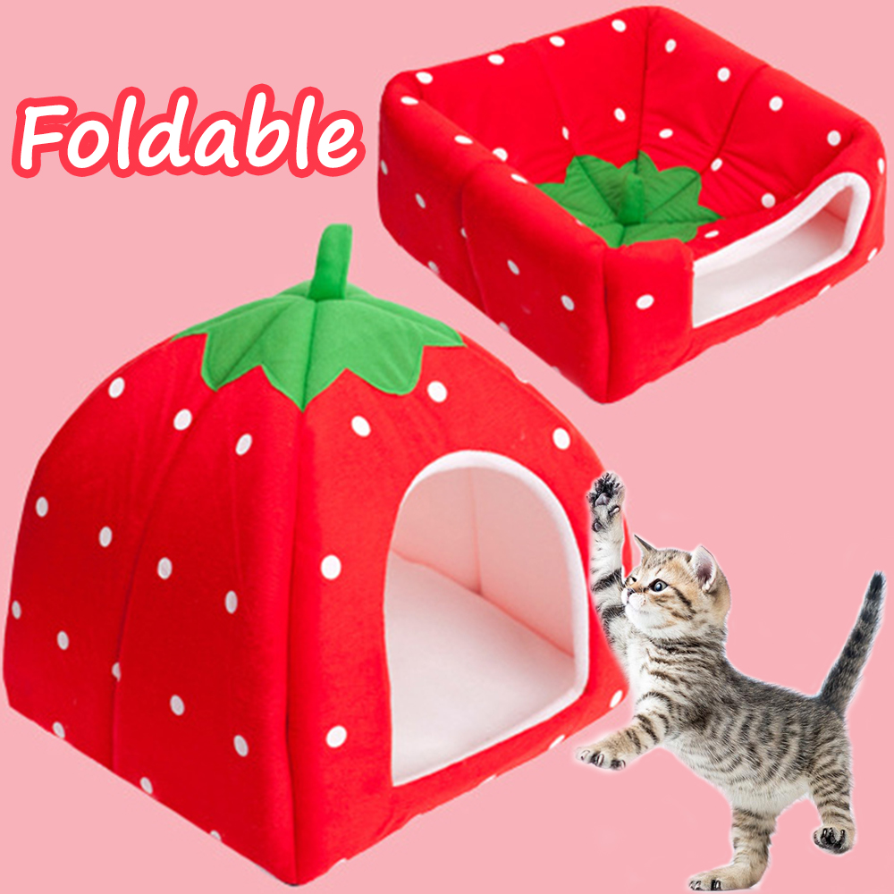 Cat Bed For Small Dogs House For Cat Warm Dog Bed Cave Tent Puppy Dog Kennel Cat House Bed Winter Breathable Warm Bed BD0060