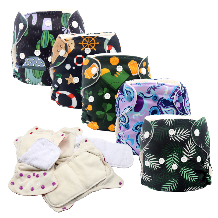 MABOJ Newborn AIO Diapers Cloth Diapers Baby Washable All In One Diaper Reusable Nappies Pul Newborn Nappy Wholesale Dropship
