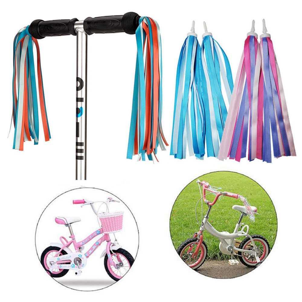 4 Pack Bike Streamers Girls Boys Baby Carrier Bicycle Handle Bar Grips Tassels