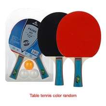 2 racket+3 balls Professional carbon fiber table tennis rackets with double face pimples-in table tennis rubber ping pong racket personality double tennis racket necklace