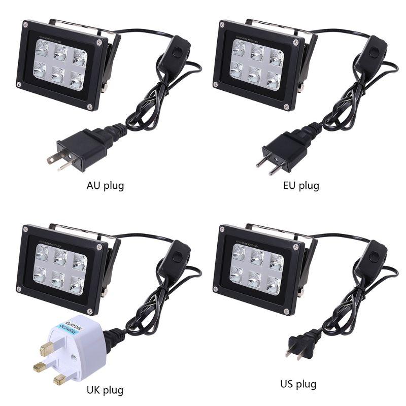 1 PC 60W 405nm 6 UV LED Resin Curing Light Lamp For SLA DLP 3D Printer US/UK/EU/AU Plug 3D Printer Parts