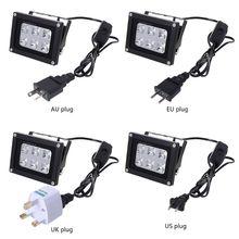 1 pc 60 w 405nm 6 uv led resina cura lâmpada de luz para sla dlp impressora 3d eua/reino unido/ue/au plug peças de impressora 3d