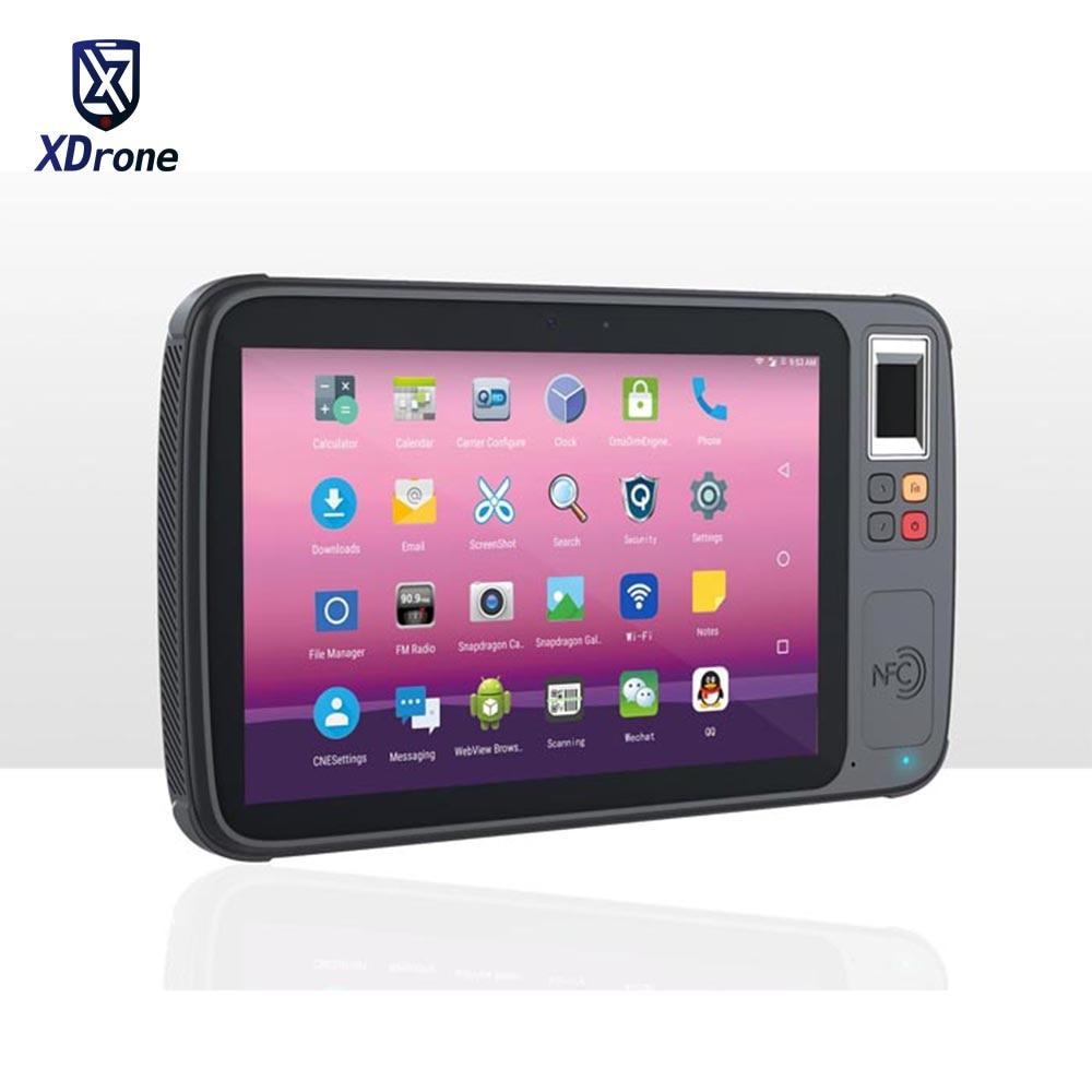 2020 K8 Waterproof Rugged Android Tablet 8 Inch Qualcomm MSM8953 Phablet HF UHF RFID  2D Barcode Scanner Fingerprint Reader GPS
