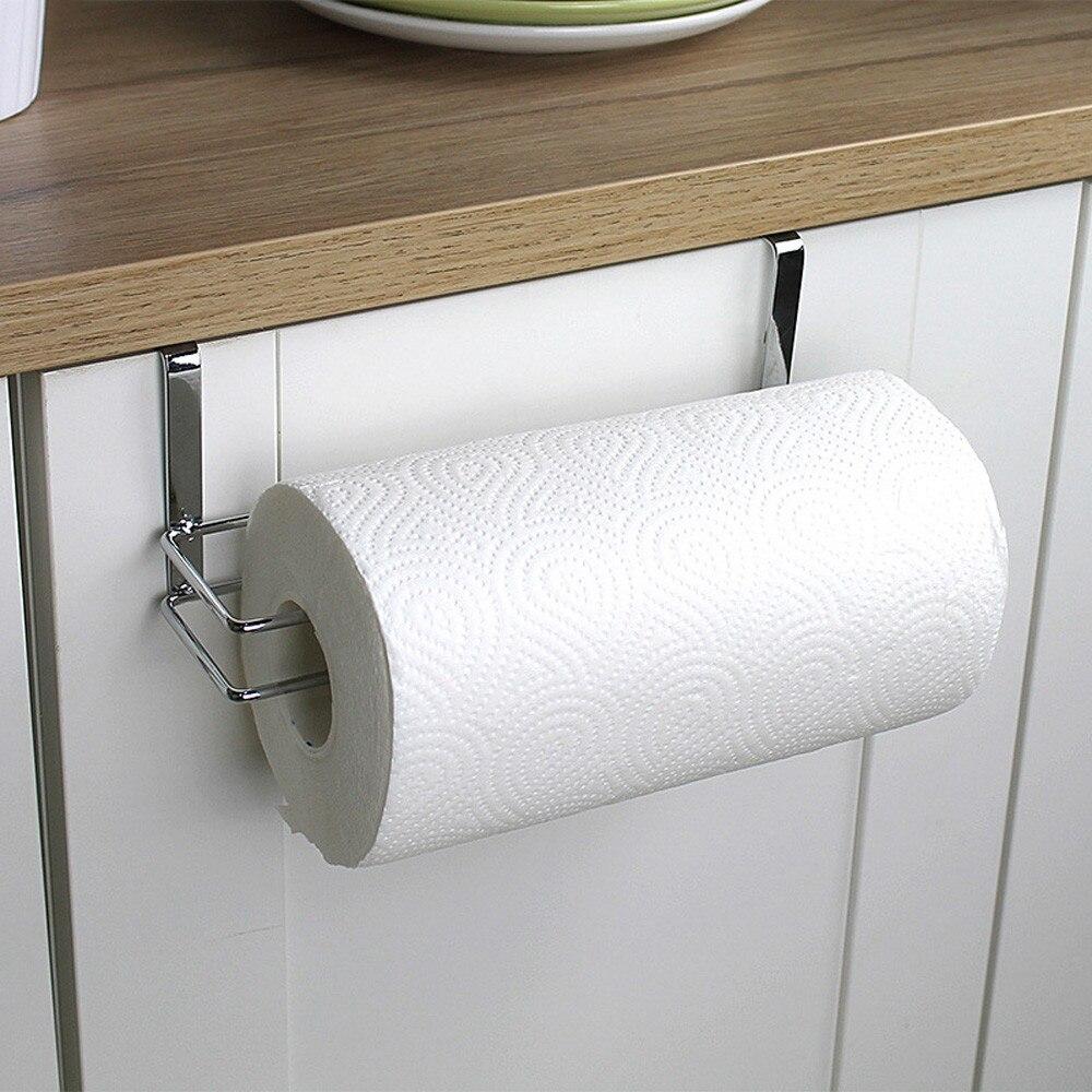 Stainless Steel Bathroom Towel Stand Rack Kitchen Cupboard Hanger Cabinet Door Chest Hanging Sundries Storage#25