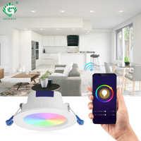 LED empotrado luz descendente Color ajustable Google Home IFTTT App Control inteligente techo abajo luces Foyer sala de estar iluminación nocturna