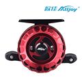 ALLJOY Fishing Wheel Red Black Alloy Design Strong Switching Magnetic Slowdown Fishing Wheel And Sturdy One-Button Aluminum