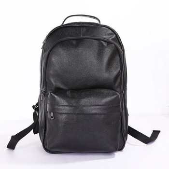 2020 New Casual Men Backpack 15' Cowskin Leather Men's Laptop Computer Notebook Backpacks Double Shoulder School Bag