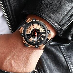 Image 5 - ブランド男性ステンレス鋼ビジネス腕時計currenクォーツ軍事腕時計ファッション因果男性時計自動日付レロジオhomem