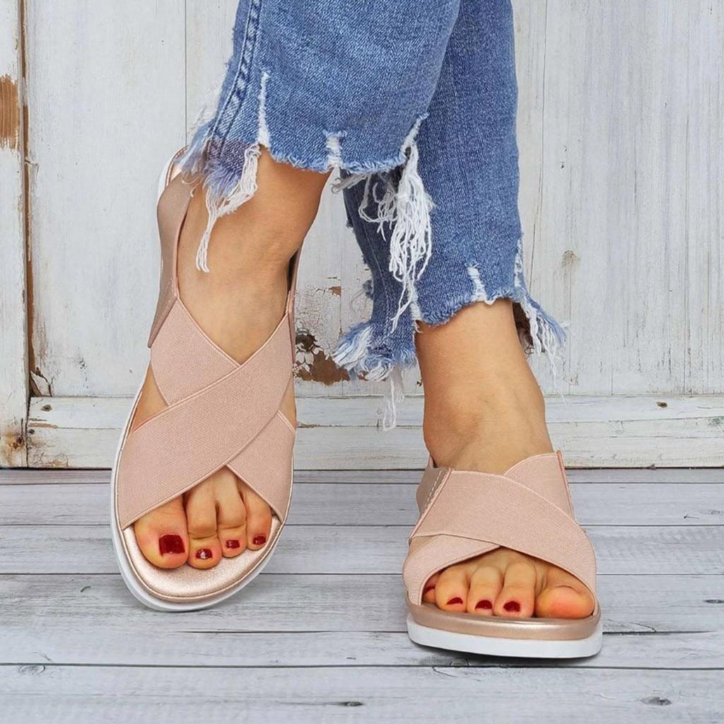 GlintLife | Comfy slip on sandals | For feet beauty