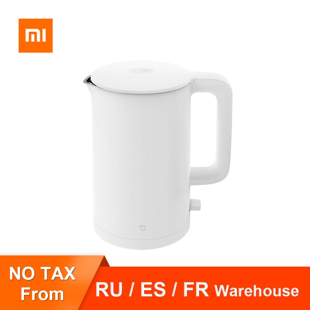 Original Xiaomi Mijia Electric Kettle 1A Fast Hot boiling Stainless Intelligent Temperature Control Anti Overheat Kettle Tea Pot