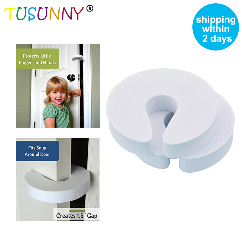 TUSUNNY 4 Pcs Lot  Baby Safety Door Protection, Stopper For Door Baby protection stopperr Safety Guard Finger Protect94*92*18mm