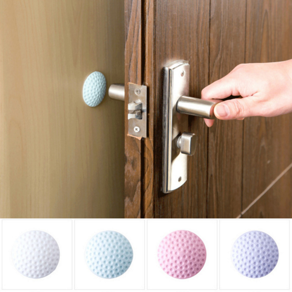 1PC Golf Ball Styling Rubber Anti-collision Mat Table Corner Protection Pad Round Wall Protector Self Adhesive Door Handle Mat