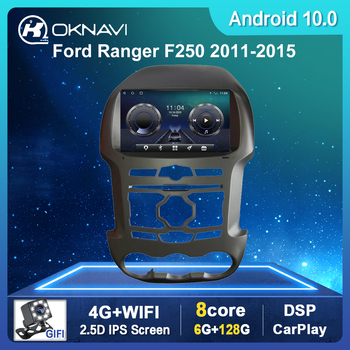 9'' Android 10.0 Auto Car Radio For Ford Ranger F250 2011-2015 GPS Navigation Android 2 Din IPS Screen DSP DVD Multimedia Playe image