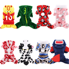 Fleece Dog Jumpsuits Winter Pet Dog Clothes For Dog Christmas Clothing Soft Cat Pet Cosplay Clothes Chihuahua Yorkshire Clothing