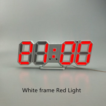 3D LED Wall Clock Modern Design Digital Table Clock Alarm Nightlight Saat reloj de pared Watch For Home Living Room Decoration 17