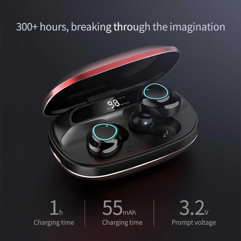 TWS G16 Bluetooth słuchawki 5.0 Touch Control Blutooth słuchawki douszne Stereo z redukcją szumów z wyświetlaczem LED etui z funkcją ładowania