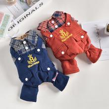 Jacket Jumpsuit Coat Puppy Pet New Warm Dog for Cats Small Medium Rompers Plaid