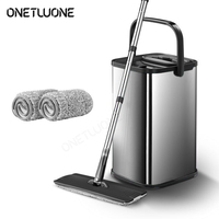 Stainless steel Mop Magic Automatic Cleaning Mop Fast Spin Washing Cleaning Home Lazy Mop