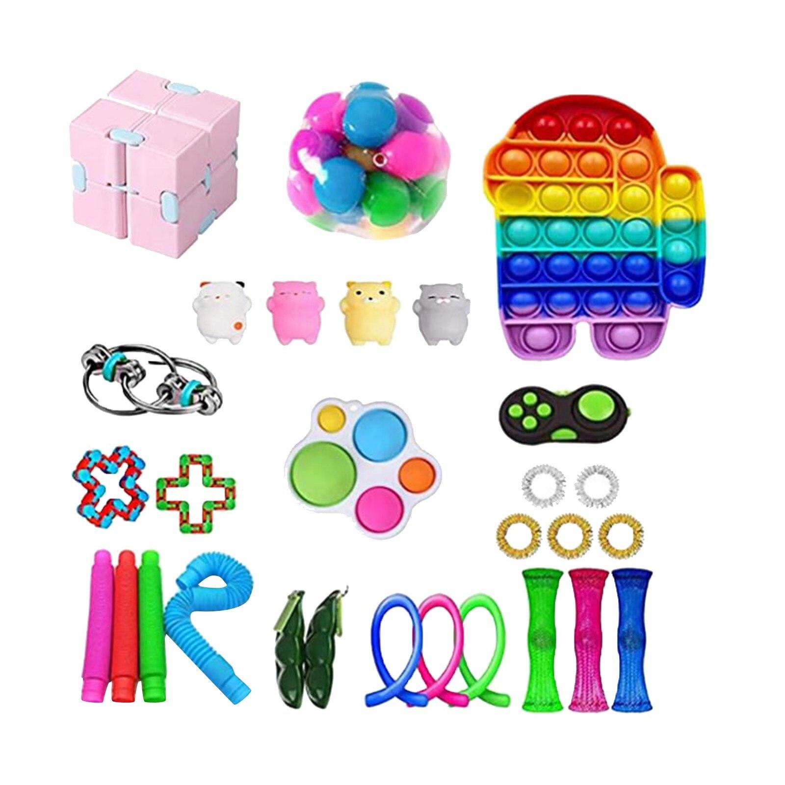 PopIt Round Push Bubble Fidget Toys Adult Stress Relief Toy Anti-stress PopIt Soft Squishy Anti-Stress Gift Anti-Stress Poppit img2