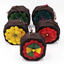 Coconut Shell Octagonal Flower Bag 2019 Ethnic Wind Ladies Coin Purse Tourism Crafts Retro Handbag