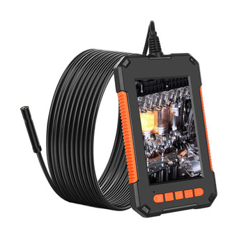 Professional Industrial Endoscope 8mm 1080P HD Camera 4.3 Inch 180°wide Viewing Angle IPS Screen IP67 Waterproof