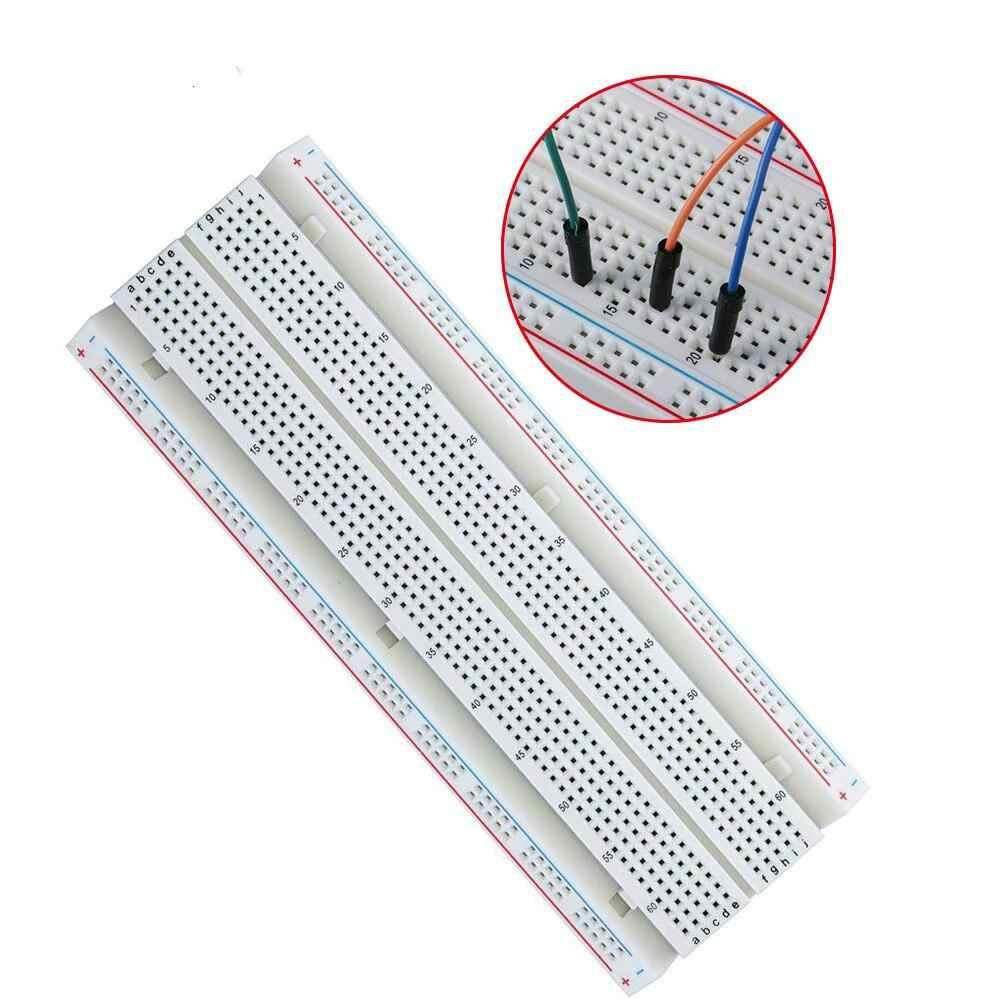 Módulo de potência da tábua de pão 830 pontos solderless protótipo placa kit cabos fios jumper para arduino diy kit raspberry pi