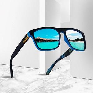 DJXFZLO 2020 New Fashion Guy's Sun Glasses Polarized Sunglasses Men Classic Design Mirror Fashion Square Ladies Sunglasses Men