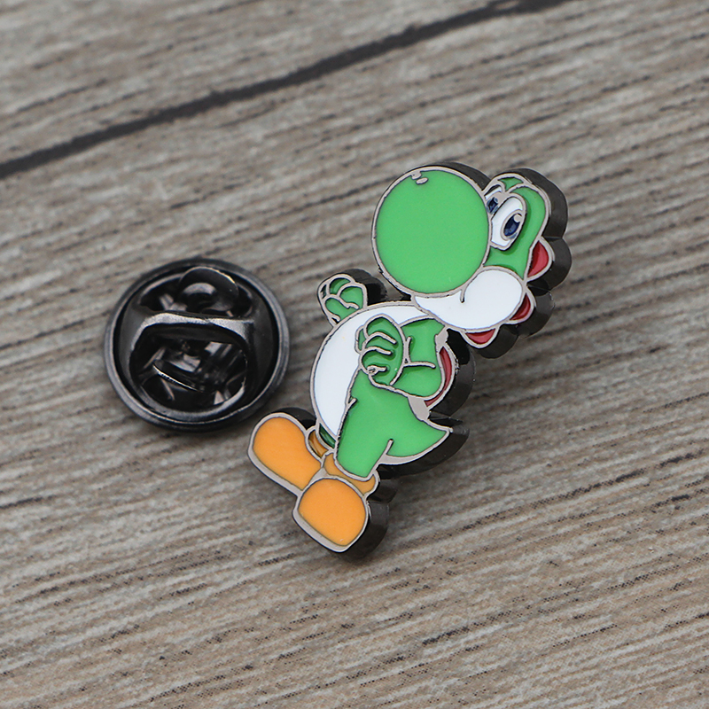 K443 Super Mario Dinosaur Metal Brooch Pin Button Pins Girl Jeans Clothes Bag Decoration For Women Jewelry Gift in Brooches from Jewelry Accessories