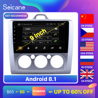Seicane Android 8.1 9 2Din GPS Multimedia Player Car Radio For ford focus EXI MT 2 3 Mk2/Mk3 2004 2005 2006 2007 2008 2012