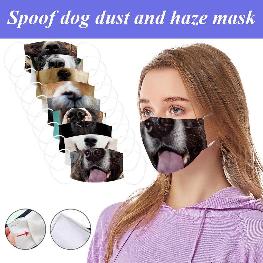 German Shepherd Dabbing Puppy Windproof Sports Face Protection Face Cover Headband Headwear Neck Warmer