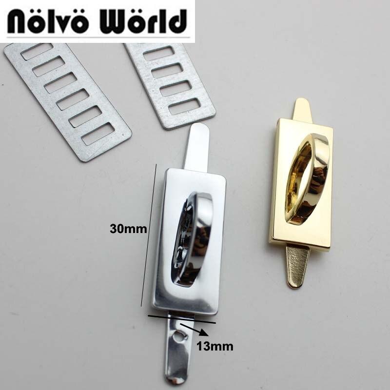 10-60pcs 6 Colors 30*13mm Alloy Gold Metal Arch Bridge Connector Hanger For Bags Belts Strap Rose Gold Toned