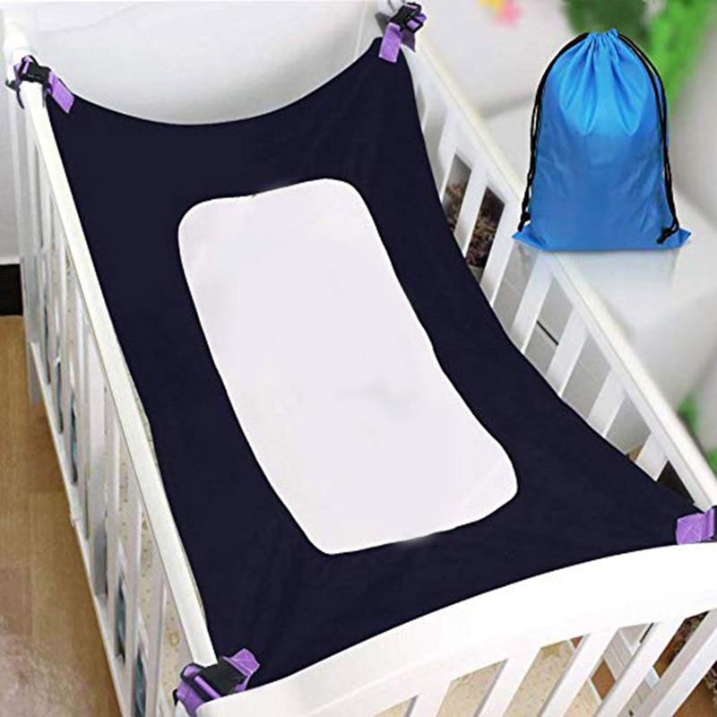 Baby Hammock For Newborn Kid Sleeping Bed Safe Detachable Baby Cot Crib Elastic Hammock With Adjustable Net