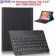 Bluetooth Keyboard Tablet Case untuk Samsung Galaxy Tab A 8.0 2019 SM-T290 SM-T295 290 295 Wireless Keyboard Tablet Cover(China)