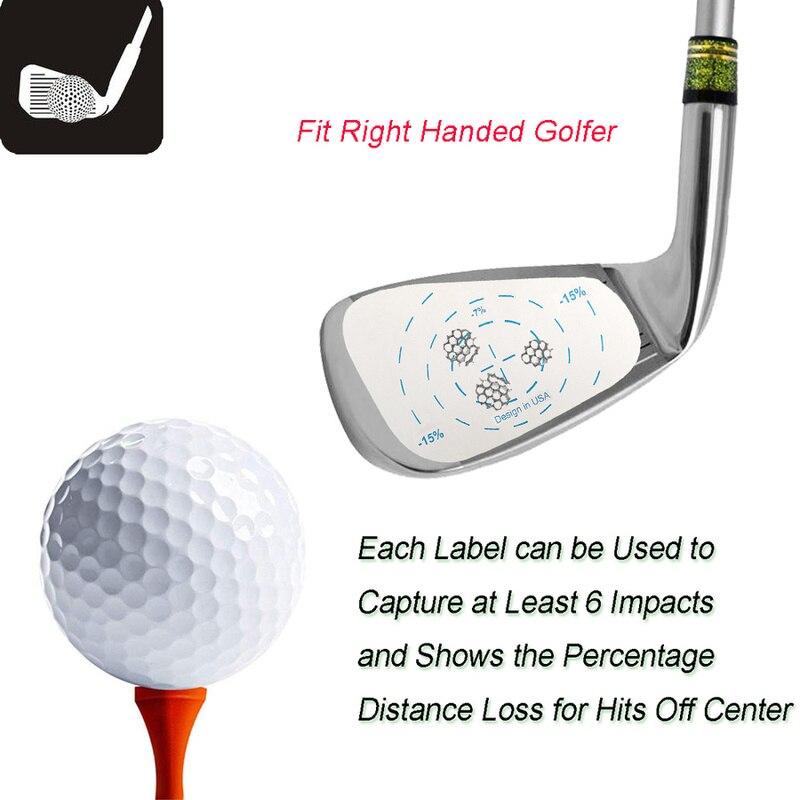 200 pcs pita impak golf gulungan besi label tangan kanan bola latihan - Golf - Foto 2