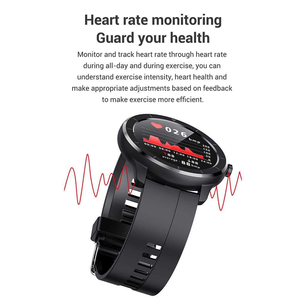 Lemfo tela sensível ao toque completa relógio inteligente ai rosto monitor de freqüência cardíaca ip68 à prova dip68 água smartwatch masculino para huawei xiaomi gtr