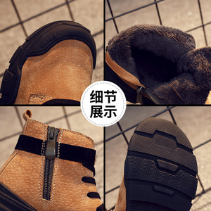 Image 4 - Winter New Kids Ankle Boots Fashion Vintage Boys Martin Boots For Children Waterproof Boots Girls Snow Sneakers Outdoor Non slip