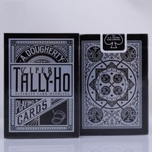1pcs Tally-Ho Viper Deck Bicycle Fan Back Playing Cards Black By Ellusionist Creative Poker Magic Props Tricks